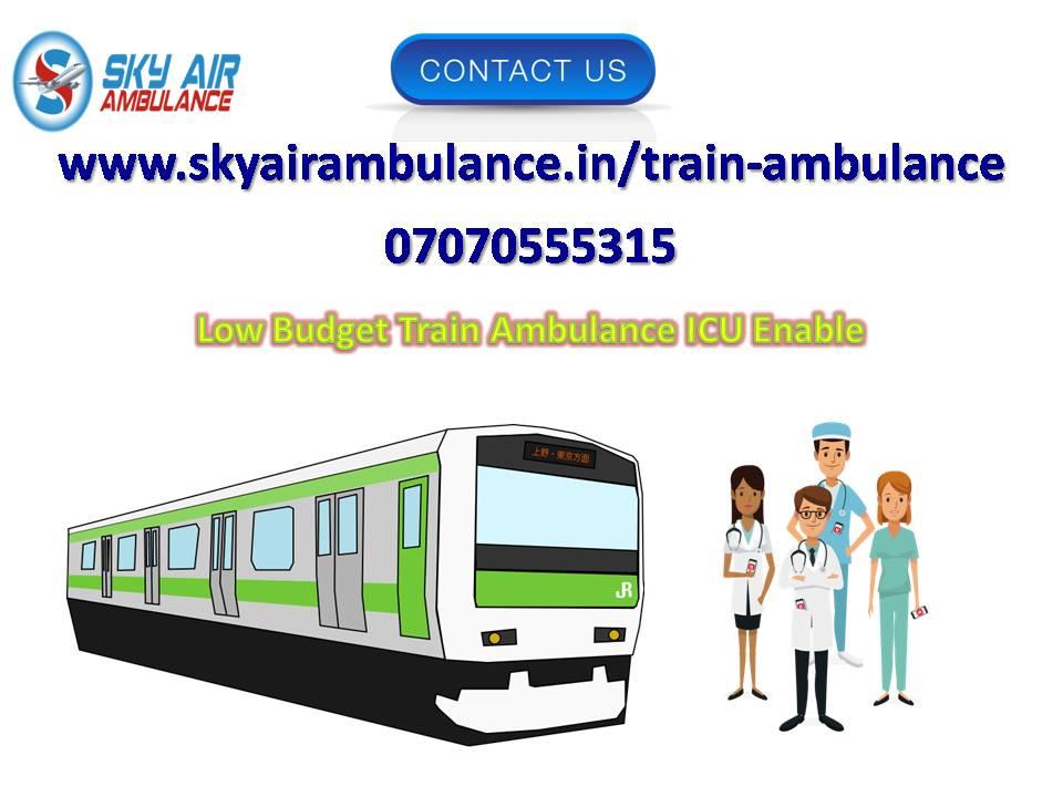Take Sky Train Ambulance Service in Guwahati with Advanced ICU Facility